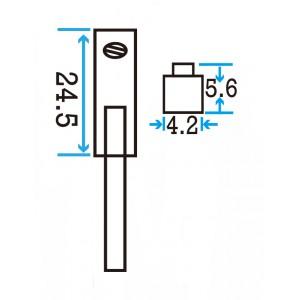 NPN T2-slot Magnetic Sensor w/3 leads