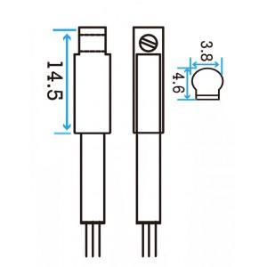 NPN C-slot Magnetic Sensor w/3 leads