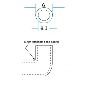 OD 6mm, ID 4mm, PU Tube