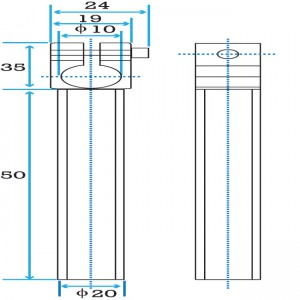 Clamping 10mm Tube with 20mm Shaft Short Angle Arm