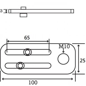 Long M10 Angle Plate