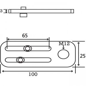 Long M12 Angle Plate
