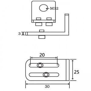 P Type M12 Angle Plate