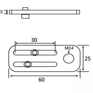 Short M14 Angle Plate