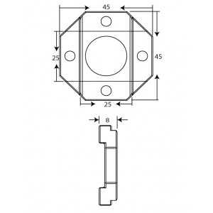 2525 Profile Cross Joint Connector