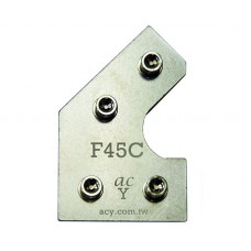 50x25 Flat 45 degree Connector