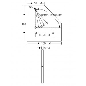 100x100 Flat Corner Joint Connector