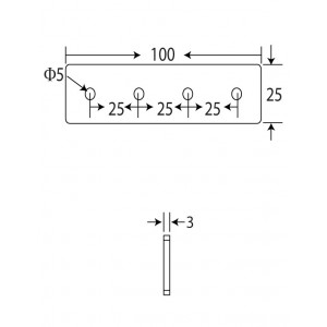 100x25 Flat Straight Connector