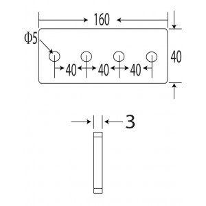 160x40 Flat Straight Connector