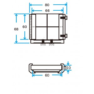 Slide 60 EOAT Mounting Plate without Fittings