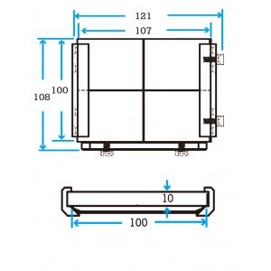 Slide 100 EOAT Mounting Plate without Fittings