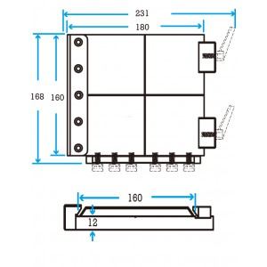 Slide 160 EOAT Mounting Plate without Fittings